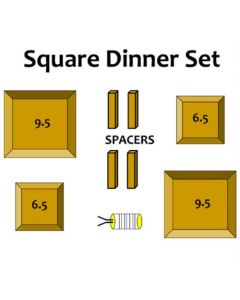 Square Dinner Set Wood Drape Molds