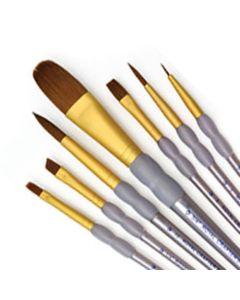 Brown Taklon Soft Grip 7 Brush Set