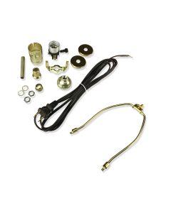 7 In. Harp Lamp Kit (Brown Cord)
