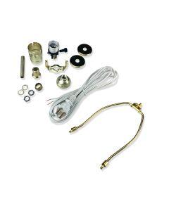 7 In. Harp Lamp Kit (White Cord)