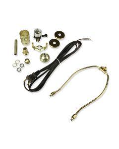 8 In. Harp Lamp Kit (Brown Cord)