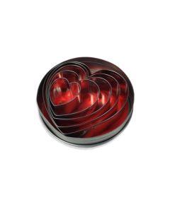 Cutter Set/Tin- HEARTS