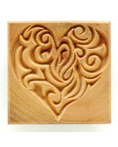 Square Stamp Decorative Heart SSL-15