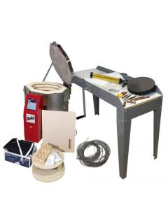 bailey, hand building, kit, electric kiln, slab roller