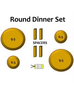 Round Dinner Set Wood Drape Molds