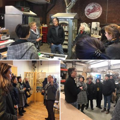 Kiki Smith Visits Bailey Pottery and Kingston's Midtown Arts District with Her Columbia University Graduate Students