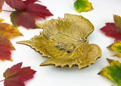 Fall Leaf Jewelry Dish